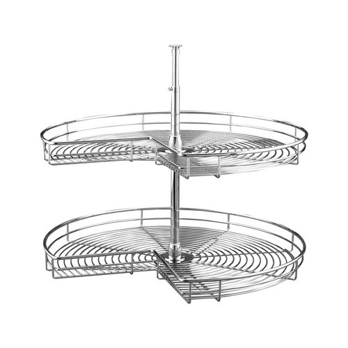 Rev-A-Shelf 5472-28 CR - 28in Kidney Chrome Lazy Susans 2-Shelf