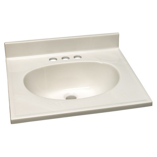 Design House 551044 Single Bowl Marble Vanity Top, 19 X 17, White