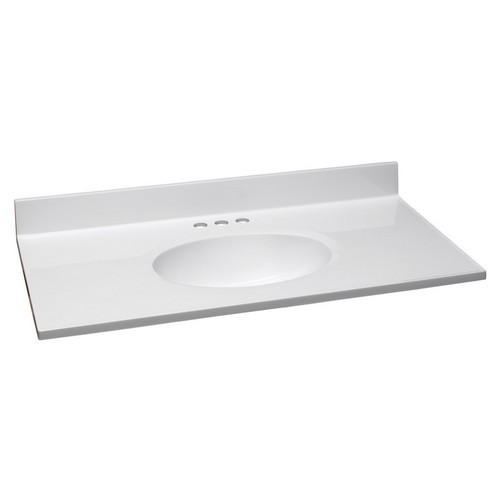Design House 551341 Single Bowl Marble Vanity Top 37 Inch