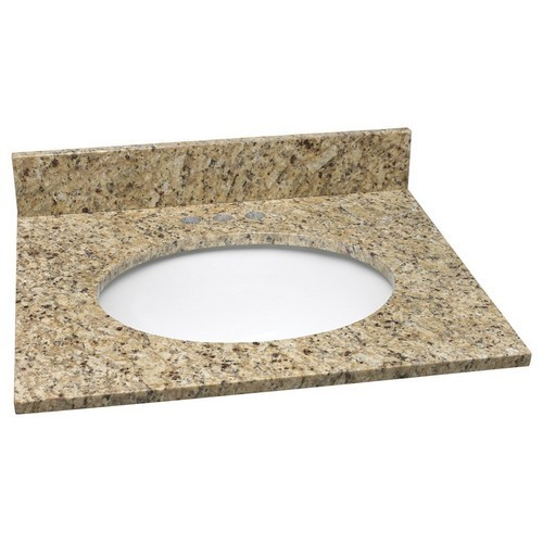 Design House 552406 Single Bowl Granite Vanity Top, 25 X 22, Venetian Gold