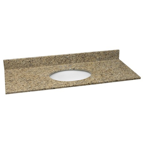 Design House 552430 Single Bowl Granite Vanity Top, 49 X 22, Venetian Gold