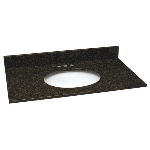 Design House 552539 Single Blow Granite Vanity Top, 31 X 22, Ubatuba