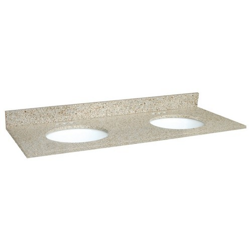 Design House 553081 Double Bowl Granite Vanity Top, 61 X 22, Golden Sand