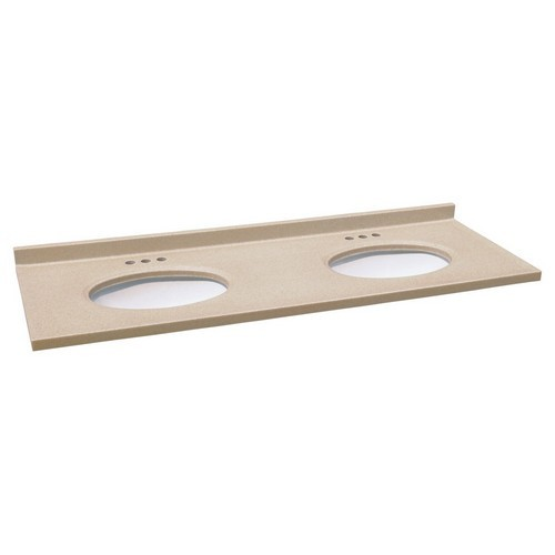 Design House 553214 Double Bowl Cultured Marble Vanity Top, 61 X 22, Aurora