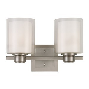 Design House 556142 Oslo 2LT Wall Mount Satin Nickel