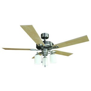 Design House 556621 Aubrey 52in 3LT Ceiling Fan Satin Nickel