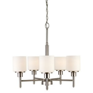 Design House 556639 Aubrey 5LT Chandelier Satin Nickel