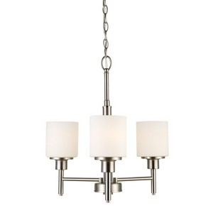 Design House 556647 Aubrey 3LT Chandelier Satin Nickel