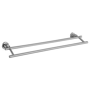 Design House 560326 Geneva 24in Double Towel Bar, Satin Nickel