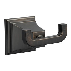 Design House 560441 Torino Double Robe Hook, Brushed Bronze