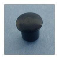 Bainbridge 3001BK-32, 5mm Bore, Plastic Cover Cap for Shelf Hole, Black, 100-Pack