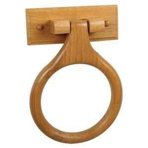 Design House 561191 Dalton Towel Ring, Honey Oak