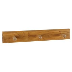 Design House 561225 Dalton Triple Robe Hook, Honey Oak