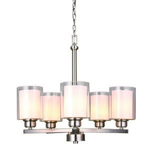 Design House 567198 Oslo 5LT Chandelier Brushed Nickel