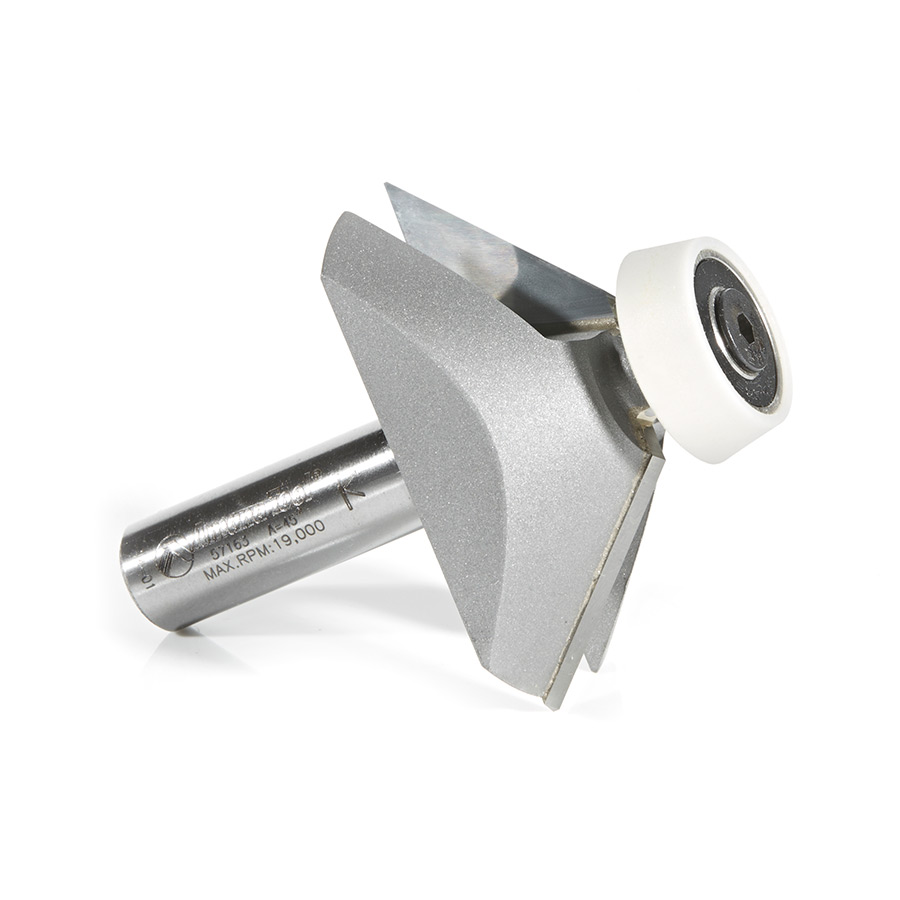 Carbide Tipped Lansen Stainless Steel Edge Sinks 45 Deg Bevel Solid Surface Routing Bit Amana Tool 57163