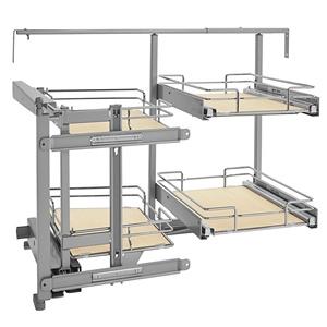 Rev-A-Shelf 599-18-LMP - Two-Tier Blind Corner Organizer, Left