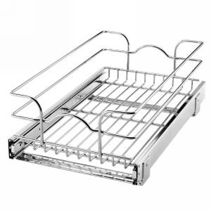 "12"" x 18"" Single Pull-Out Basket Chrome Rev-A-Shelf 5WB1-1218-CR"