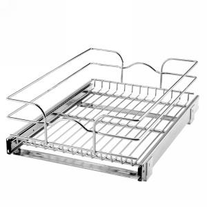 "15"" x 22"" Single Pull-Out Basket Chrome Rev-A-Shelf 5WB1-1522-CR"