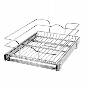 "15"" x 20"" Single Pull-Out Basket Chrome Rev-A-Shelf 5WB1-1520-CR"
