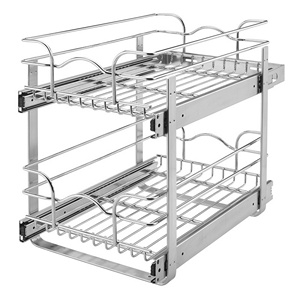 Rev-A-Shelf 5WB2-1218-CR - 12in Two-Tier Wire Baskets, 18in Depth