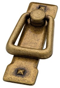 Liberty Hardware 62077AB, Bail Pull, Centers 2-1/4 (2-1/4), Antique Brass