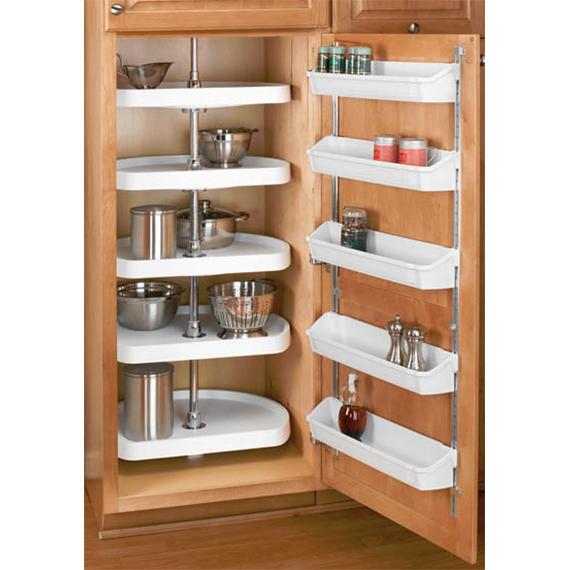 Rev-A-Shelf 6265-22-15-52 - 22in Pantry D-Shape Lazy Susans, Almond