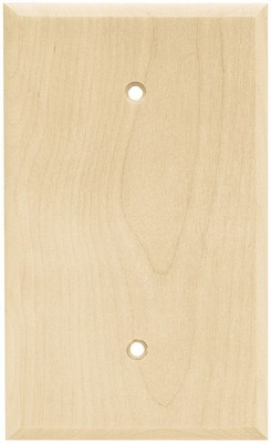 Liberty Hardware 64662, Single Blank Wall Plate, Unfinished Wood, Wood Square