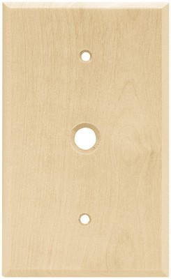 Liberty Hardware 64663, Single Coaxial Wall Plate, Unfinished Wood, Wood Square