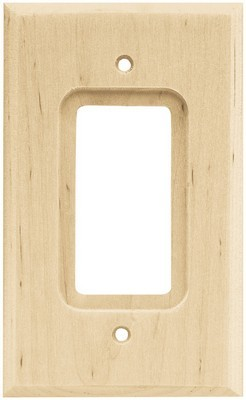 Liberty Hardware 64668, Single Decorator Wall Plate, Unfinished Wood, Wood Square
