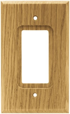 Liberty Hardware 64670, Single Decorator Wall Plate, Medium Oak, Wood Square