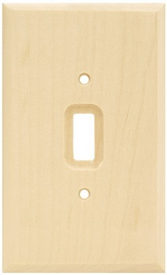 Liberty Hardware 64673, Single Switch Wall Plate, Unfinished Wood, Wood Square