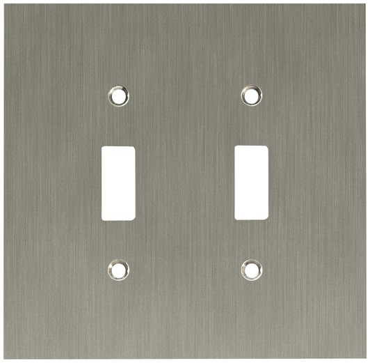 Liberty Hardware 64928, Double Switch Wall Plate, Satin Nickel, Concave