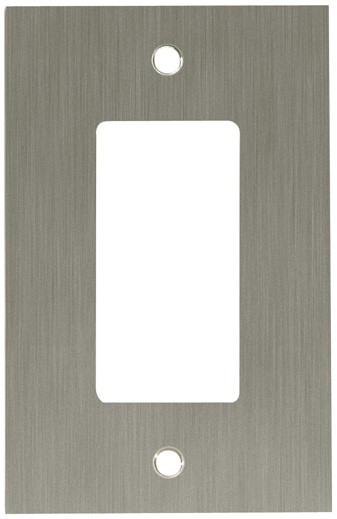Liberty Hardware 64931, Single Decorator Wall Plate, Satin Nickel, Concave