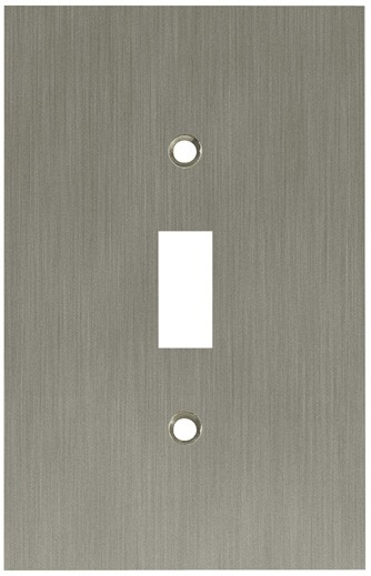 Liberty Hardware 64932, Single Switch Wall Plate, Satin Nickel, Concave