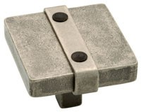 Liberty Hardware 65177PI, Knob, 1-1/2 dia., Tumbled Pewter, Iron Craft
