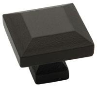 Liberty Hardware 65237WI, Square Knob, 1-1/4 dia., Wrought Iron, Iron Craft