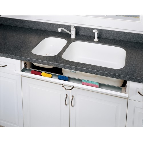 Rev-A-Shelf 6541-36-15-52 - 36in Polymer Sink Tip-Out Tray Set, Almond