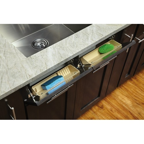 Rev-A-Shelf LD-6572-14-15-1 - 14in Polymer Sink Tip-Out Tray Set