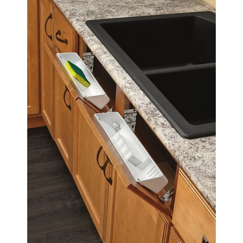 Rev-A-Shelf LD-6572-11-11-1 - 11in Polymer Sink Tip-Out Tray Set