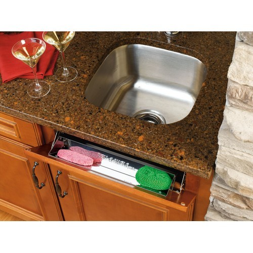 Rev-A-Shelf 6581-16-52 - 16in Stainless Sink Front Tray