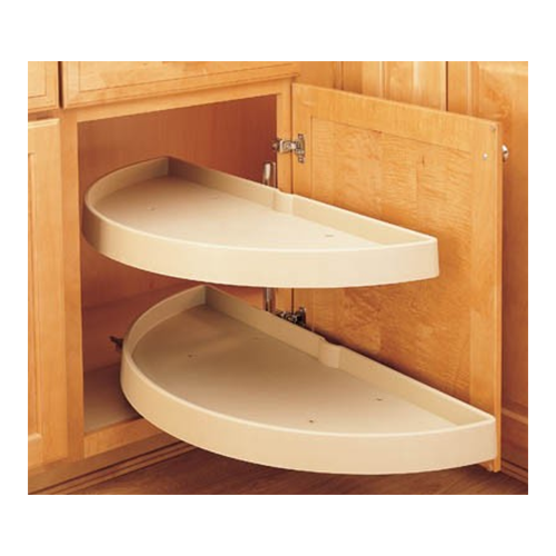 Rev-A-Shelf 6842-33-15-570 - 33in Half Moon Lazy Susans 2-Shelf, Almond