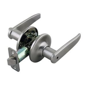 Design House 702084 Delevan 2-Way Latch Privacy Door Handle, Adjustable Backset, Satin Nickel