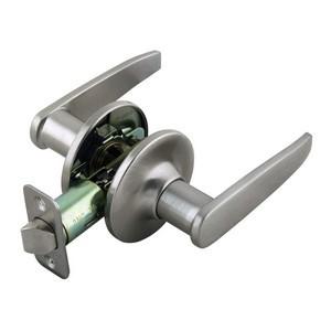 Design House 702092 Delevan 2-Way Latch Passage Door Handle, Adjustable Backset, Satin Nickel