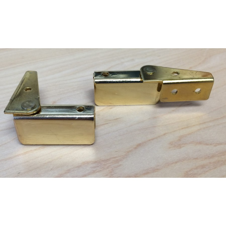 Inset Side Mount Glass Door Hinge Bright Brass Wood Technology 7067.001.028
