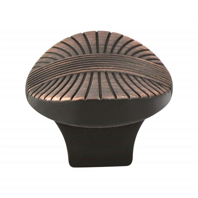 Berenson 7173-10VB-P Oval Knob, Length 1-3/8, Verona Bronze, Opulence Series