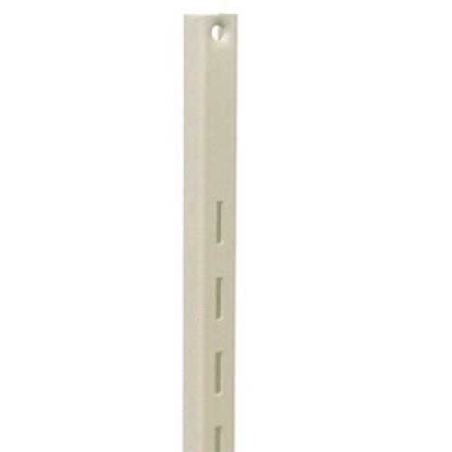 KV 80 ALM 48, 48in 80 Series Single Slotted Shelf Standard, Almond, Knape and Vogt