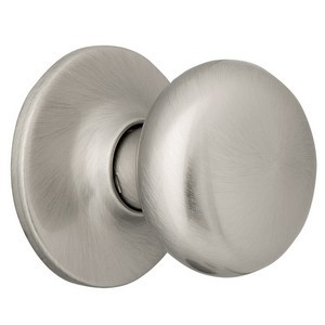 Design House 753293 Cambridge Dummy Door Knob, Reversible for Left or Right Handed Doors, Satin Nickel