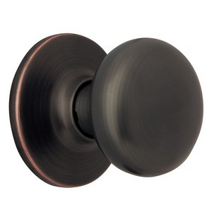 Design House 753434 Cambridge 2-Way Dummy Door Knob, Reversible for Left or Right Handed Doors, Oil Rubbed Bronze