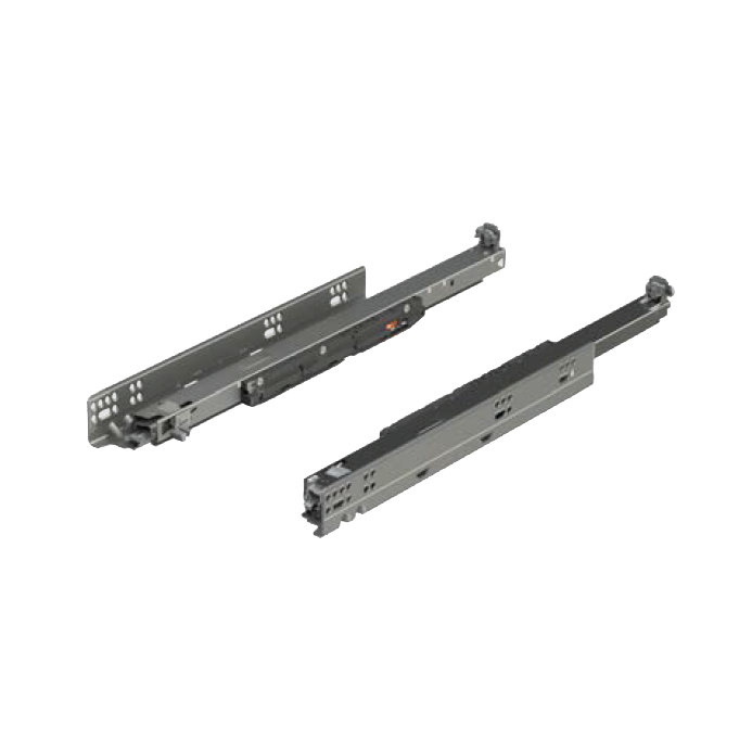 """Blum 763.4570S 18"""" MOVENTO 763 Undermount Slide, Full Extension, Soft-Close, 125lb, Frameless or Blocked-Out"""
