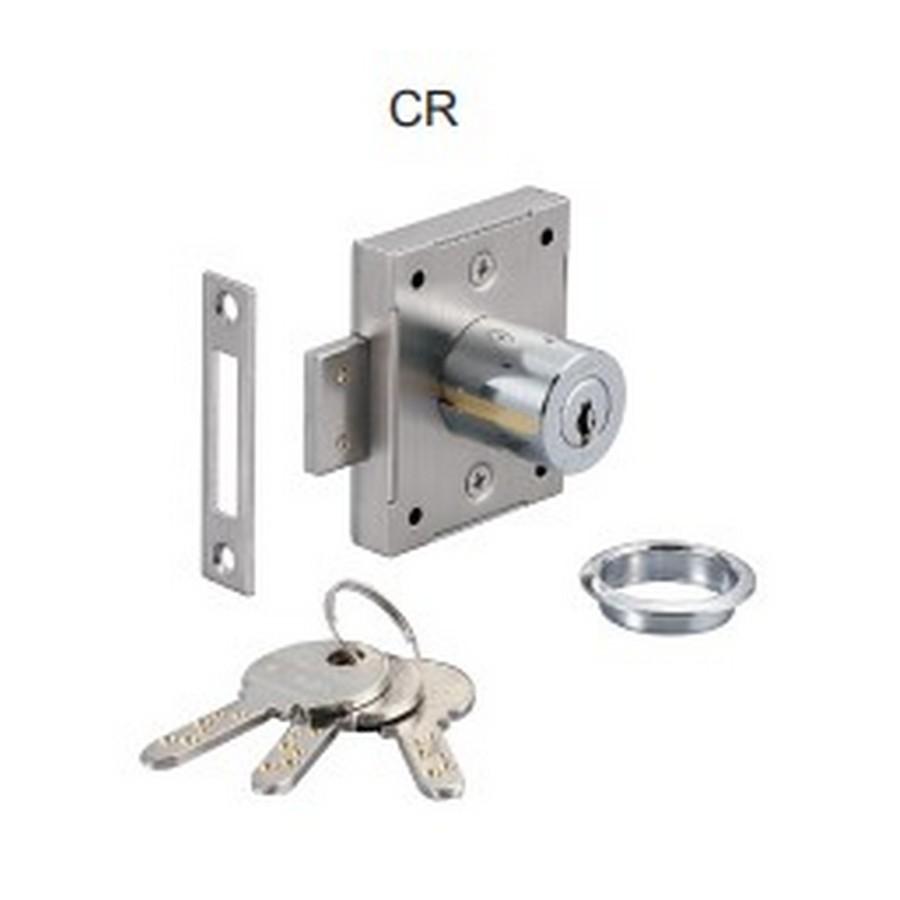 """7810 Cabinet Door Lock 1-7/16"""" Long Chrome KA/KD Sugatsune 7810-36CR"""